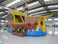 Giant Inflatable Pirate Ship Slide for Kids