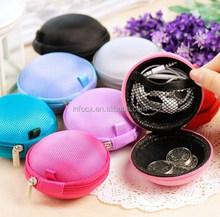 Hot selling candy color eva earphone storage bag
