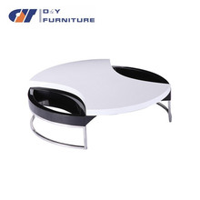 Modern high gloss MDF extension coffee table design