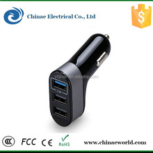 Fast shipment 5.1A electric 3 port usb car charger for all smart phone/charging device