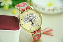 Original new style national style wind woven ladies bracelet watch(SWTNSXR1095)