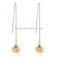 2015 hot sale Korean fashion jewelry long ear wire tassel earrings 316