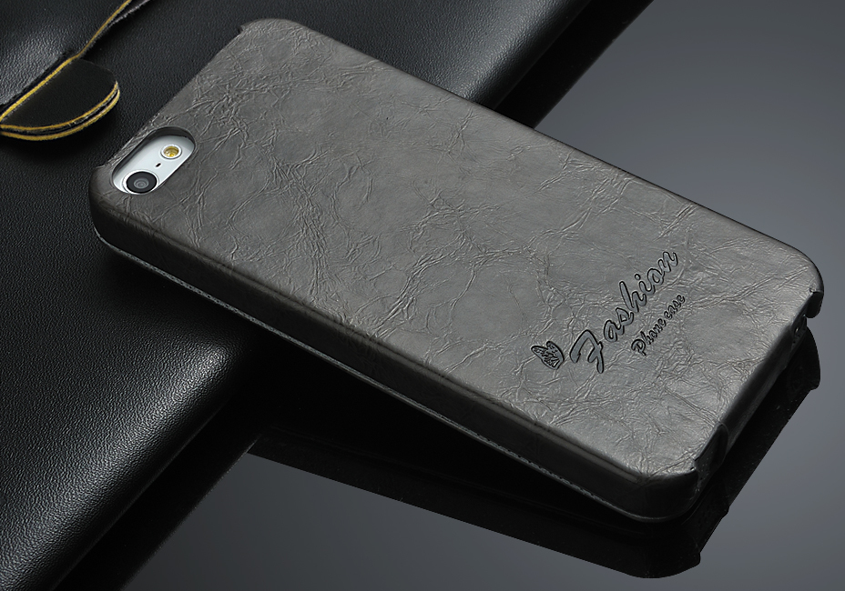 2014 Luxury Flip Leather Case for iPhone 5 5s, Leather Case Cover for iPhone 5
