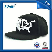 Custom 100% Cotton Red Snapback Hat/Cap With 3D Embroidery Hip-Hop Hat/Snap Back Cap