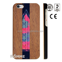 China trust manufacture supplies high quality printed wood case for iphone 6