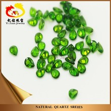 Hand Made Cut High Quality Pear Shaped Natural Chrome Diopside