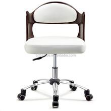 White Leather Cushion Restaurant Plywood/Molded Plywood Chair/Moulded Plywood Chair