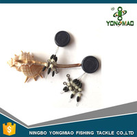 Rolling swivel and pearl beads Olive fishing rubber stopper free fishing tackle sample