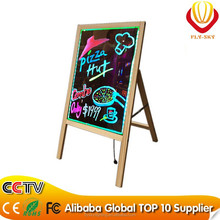 2015 hot product led writing board with tripod, wooden led board remote control CE ROHS FCC approved factory direct