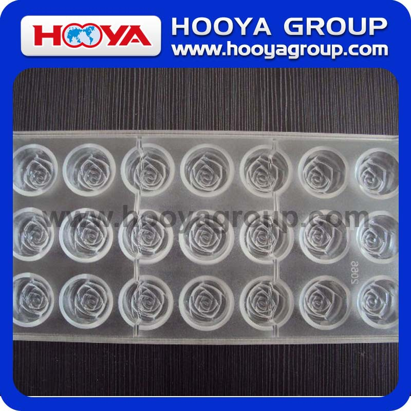 Heart Design/Flower Design PS Chocolate Mold For 21 Chocolate Molds