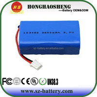 High quality 103450 lithium ion polymer battery 3.7v 3600mah with wireless camera battery