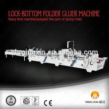 The queen of quality package machinery for lock-bottom boxes shh ag for corrugated board