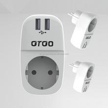 16a 250v travel converter European travel adapter with USB POWER ADAPTOR FOR Promotional UK / USA / EU / CN Travel Plug Adaptor