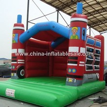 Cheap and High Quality inflatable fire truck bouncer H1-1391