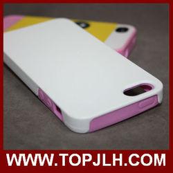 2015 Tpu bumper + matte pc backside case for iphone 5