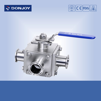Non-retention 3 way Ball Valve