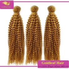 Superior quality European blonde hair, wholesale price virgin brazilian curly blonde hair