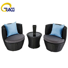 Leisure garden PE rattan chair set furniture