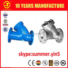 YS-SY-620 high quality cast/ductile iron/WCB/stainless steel 304 316 Y-STRAINER flange or thread connection DN50-300