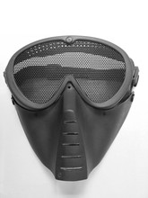 black green paintball mask