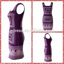 el diseño superior vendaje de las señoras vestido de cóctel