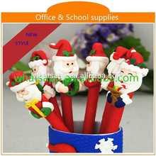Hot sale new design cheap polymer clay ball pen advertisement of ballpen