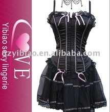 Sexy lace corset and garter, ladies sexy corsets, Rayon Ladies' Seamless Underwear