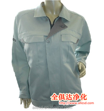 cleanroom snap cuffs antistatic Jacket for industry