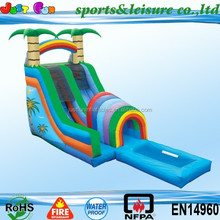 EN14960 giant inflatable slide for sale, cheapest inflatable slides for kids, water slide with a pool