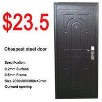 cheap wrought iron door used exterior steel doors for sale
