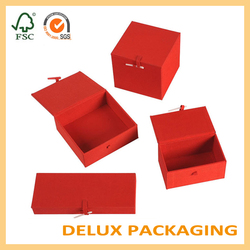 Luxury set red China style handmade wholesale gift boxes for towels