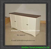 solid wooden bar cabinet with four doors