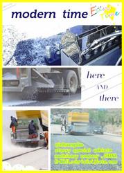Synchronous fiber asphalt chip sealer road maintenance and repair TRUCK