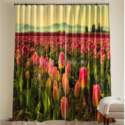 Digital print american blackout beautiful window curtains design
