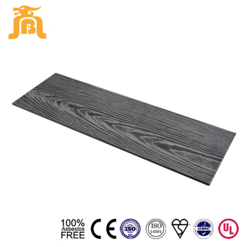 Grey Cement Board : Dark grey color iso proved wood grained fiber cement board