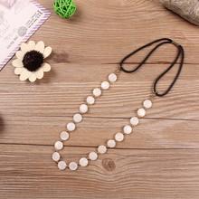 natural shell chain headband