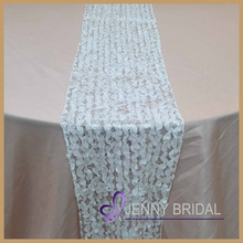 TR014C wholesale cheap modern white sequin wedding table runner