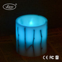 Electric Light Garden Luminara Wax color changing LED Candle