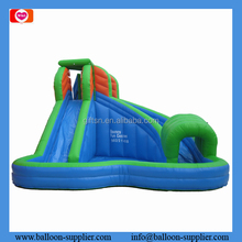 Hot adventure commercial grade inflatable water slides inflatable bouncer for outdoor sports