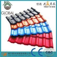Brand new pvc lightweight roof tile with low price