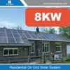 Flat roof solar panels mount traditional penetrated solar stanchion 8KW with flashing and non-penetrating ballasted solar panel