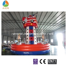 New Attractive Climbing Inflatable Fire Truck, Fire Rescue Truck For Sale
