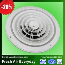 de aire de plástico ronda difusor difusor de aire rejilla de plástico para hvac sistema de ventilación