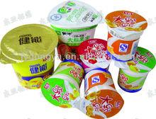 Foglio di alluminio pressofuso coperchi taglio per prodotti lattiero-caseari imballaggio/coperchi yogurt