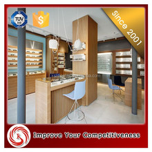 KSL Wood wool making optical shop interior design equipment/ glasses display cabinets/ glass display stand/ showcase