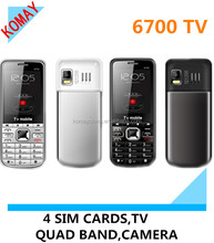 KOMAY drop shipping OEM 6700 cell phone Quad-band dual sim dual standby MP3/MP4 FM Bluetooth mobile phone cheap cellphone