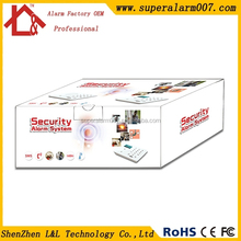 Wireless Security Alarm System Set with Black and White Colors