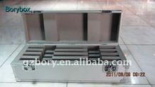 silver aluminum tool box/silver diamond aluminum tool box