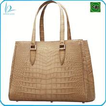 Fashion high quality genuine crocodile skin handbag