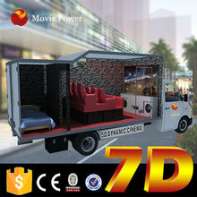No maintenance simple installation truck 3d mobile theater